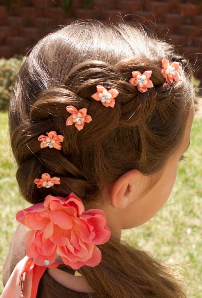 little girl hairstyles with accessories hair pins