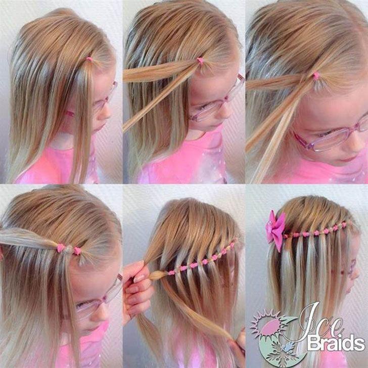 little girl braid hairstyles waterfall braid