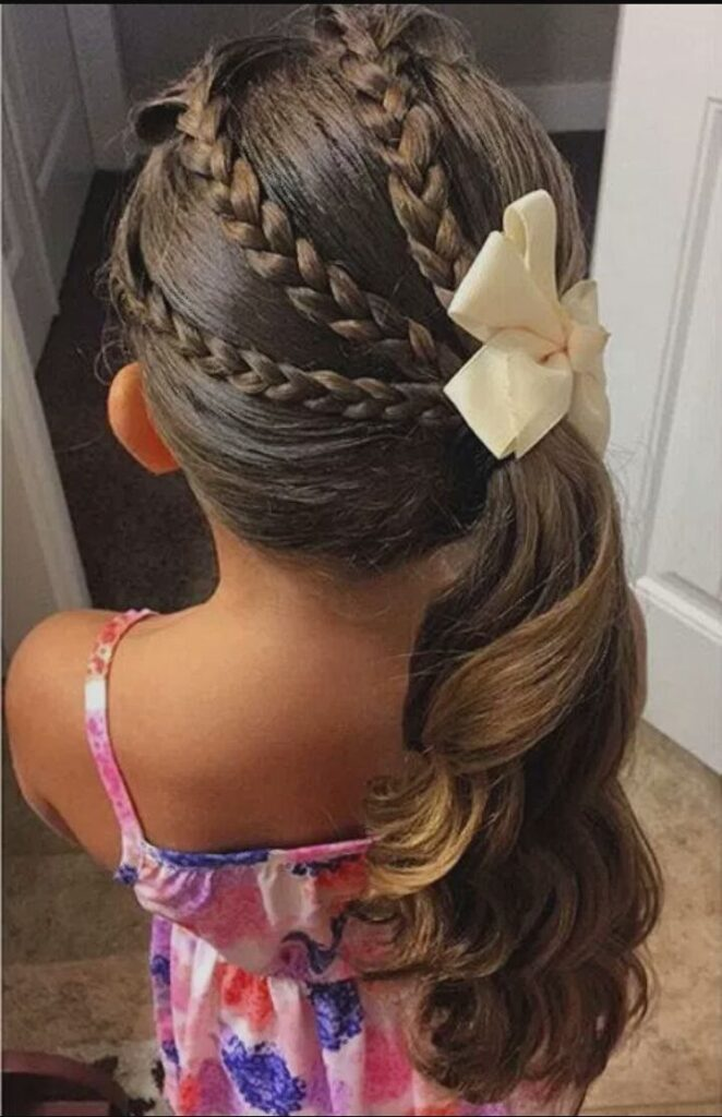little girl braid hairstyles side ponytail