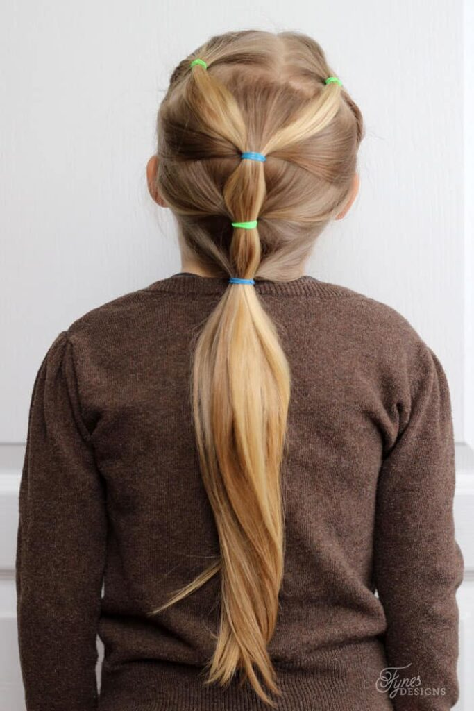 5 minutes little girl hairstyles rubber band hairstyle