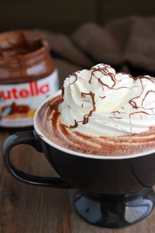 easy nutella recipes for breakfast hot chocolate