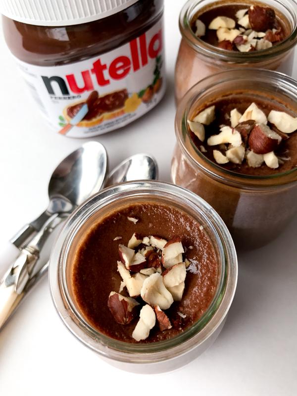 nutella desserts recipes chocolate cups